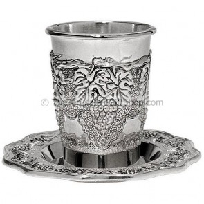 Grapes Communion Cup with Matching Coaster