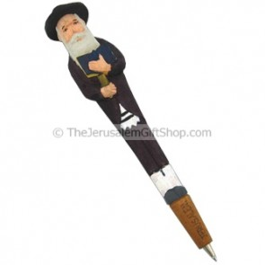 Hassid Holding Kiddush Carved Pen