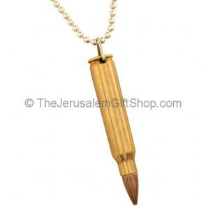 IDF Replica Bullet Necklace