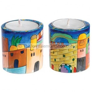 Jerusalem Round Candlesticks - small