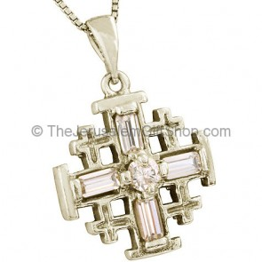 'Jerusalem Cross' Pendant with Crystal Cross Design