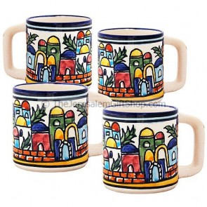 Turkish Coffee Cups Set of 4 - Jerusalem