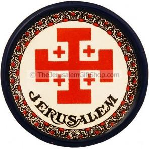 Jerusalem Cross Ceramic Coaster