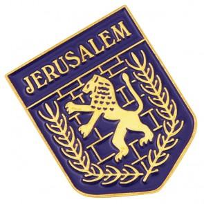 Emblem of Jerusalem 'Lion of Judah' Lapel Pin Badge
