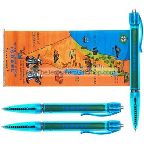 3 Jerusalem Israel Map Pens