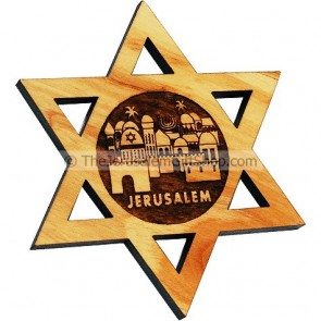 Star of David Jerusalem Fridge Magnet