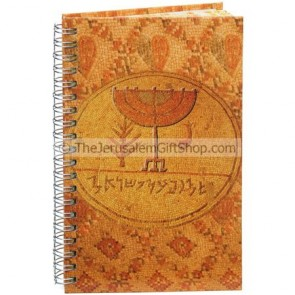 Spiral Hard Cover Notebook - Menorah