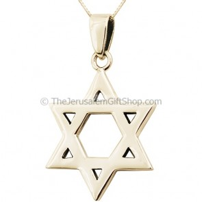 Large Silver Star of David Pendant
