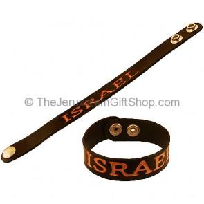Leather Israel bracelet