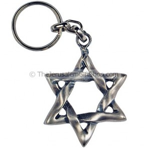 keychain - Star of David - metal