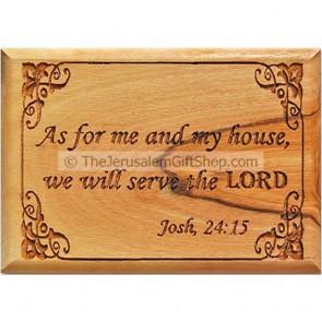 Olive Wood Magnet - Joshua 24:15
