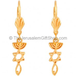 Grafted In Messianic Gold Fill Earrings