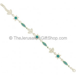 Messianic 'Grafted In' Silver and Opal Bracelet