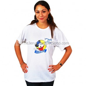 Micky Mouse Israel Flag T-Shirt