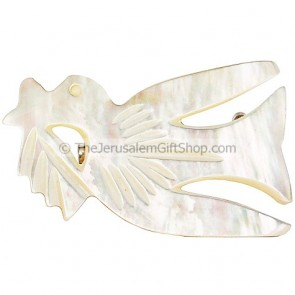 Mother of Pearl Peace Dove Brooch