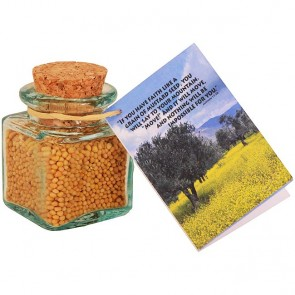 Mustard 'Seeds of Faith' in a Glass Jar