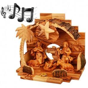 Musical Nativity Scene - Mary Joseph and Jesus