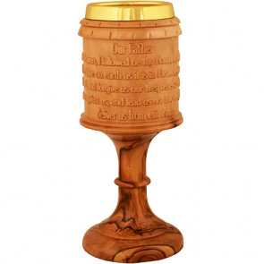 Communion Cup with The Lord's Prayer and Jerusalem Cross
