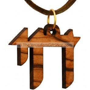 Chai - Life - Olive Wood Pendant