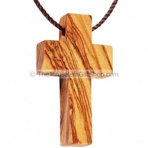 Olive Wood Cross Pendant