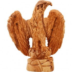 Eagle - Hand Carved Olive Wood