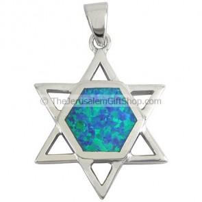Star of David Opal Pendant 2