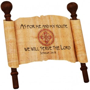 Biblical Scripture on Real Papyrus - As For Me and My House - Joshua 24:15