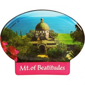 Oval 'Mount of Beatitudes' Fridge Magnet