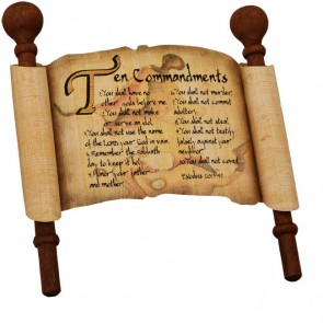 Biblical Scripture on Real Papyrus - Ten Commandments