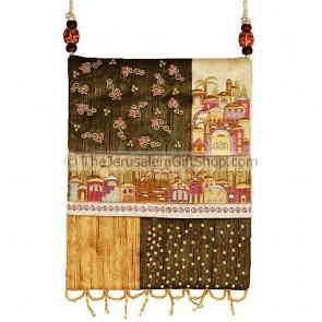 Patchwork Silk Embroidered Bag - Jerusalem - Gold