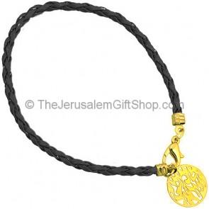 Shema Yisrael Bracelet - Black and Gold