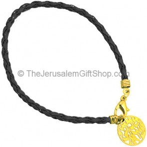 Shema Yisrael Bracelet - Black and Gold