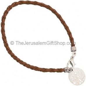 Shema Yisrael Bracelet - Brown