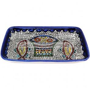 Armenian Ceramic Rectangle Tabgha Dish