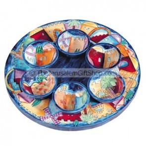 Jerusalem Seder Plate set