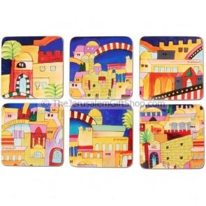 Jerusalem Coasters - Set of Six