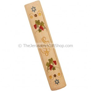 Shma Yisrael Jerusalem Stone Star of David Mezuzah