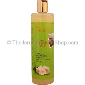 Exfoliating Shower Gel with Loofah - Green Tea and Jasmine Blossom