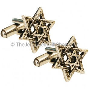 Sterling Silver Cufflinks - Star of David