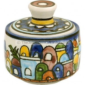 Jerusalem Mini Round Pot