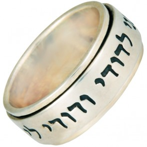 Ani ledodi Vedodi Li - Sterling Silver Spinning Ring