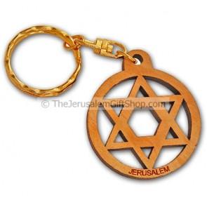 Star of David keychain