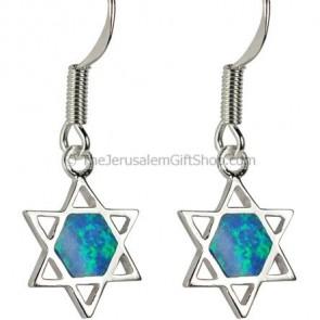Star of David Opal earrings