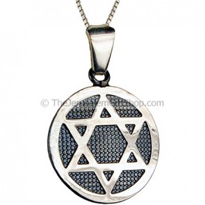 Star of David - bold circular pendant