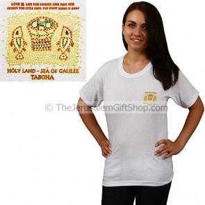 Holy Land - Tabgha Mosaic Sea of Galilee T-Shirt - small print