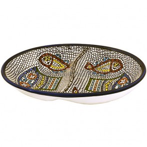 Armenian Ceramic Double Snack 'Tabgha' Dish