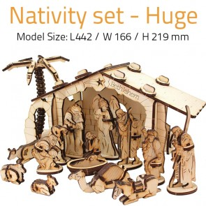 NATIVITY SCENE SET - LARGE | DIY Wood 3D Puzzle | Educational Self Assembly Craft | Made in Israel