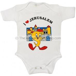Tweety Pie 'I Love Jerusalem' Bodysuit