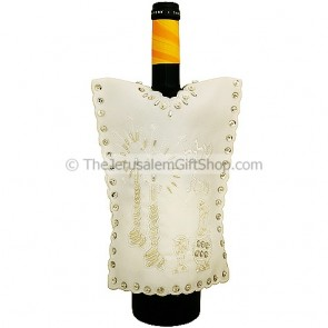 Wine Bottle Cover - Shabbat Shalom