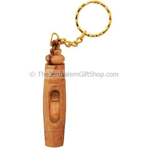 Olive Wood Keychain - Jordan Water Vial